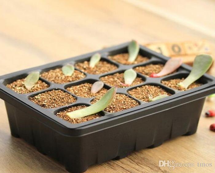 -PACK Wholesale Durable 12Cells Hole Nursery Pots Plant Seeds Grow Box Tray Insert Propagation Seeding Case Mini Flower pots plug trays