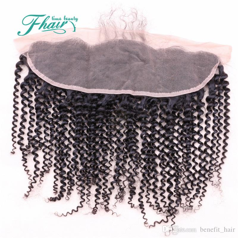 9A Brazilian Curly Lace Frontal 13x4 Kinky Curly Lace Frontal Closure With Baby Hair Human Hair Full Lace Frontal Closure DHL