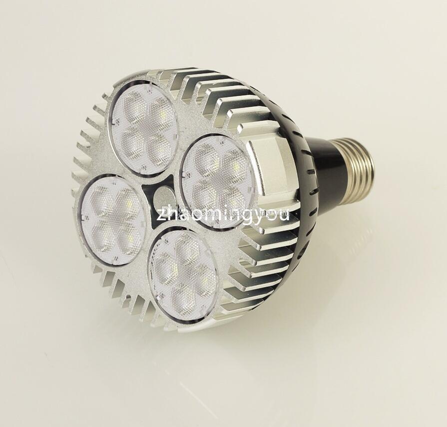 Cree Chips PAR30 35W E27 LED Spotlight Lampe Lampe Cool Blanc / Chaud Blanc Haute Luminosité Livraison Gratuite
