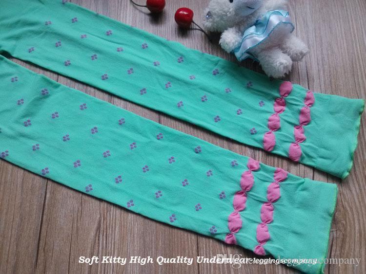 Wholesale High Quality Cute Sweet Candy Solid Velvet Children Kids Jacquard Girl Leggings Spring Autumn
