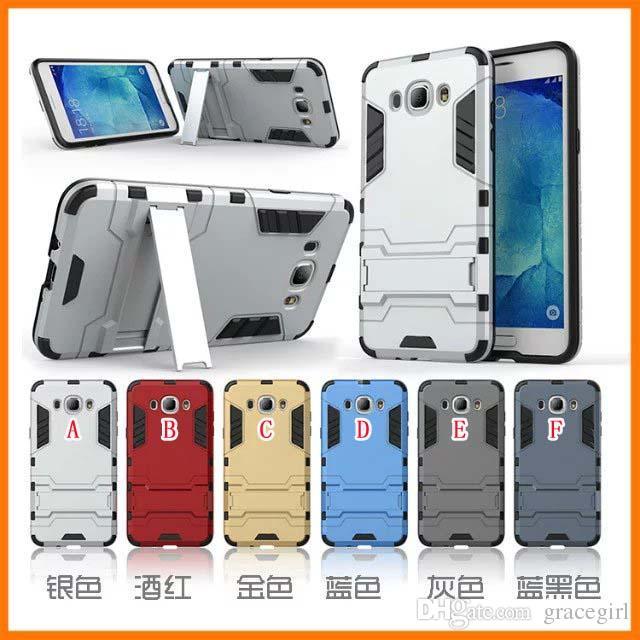 Ballistic Hybrid Armor Hard PC TPU Phone Case For Samsung Galaxy J120 J510 J710 2016 J1 J5 J7 J3 Pro Stand Shockproof Kickstand Skin Cover