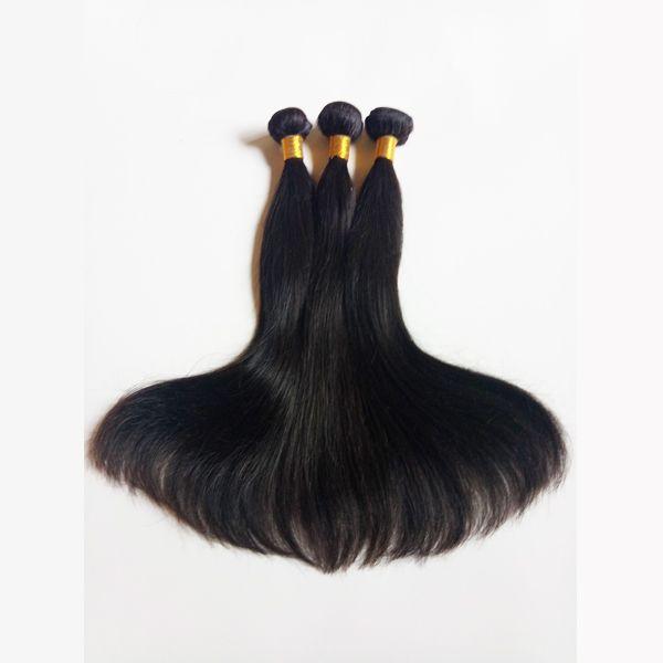 Brezilyalı bakire Saç 3 Adet Tam ve kalın sağlıklı son Ipeksi Düz Saç Tutkalsız Remy İnsan Saç Fabrika Doğrudan Satış stokta toptan