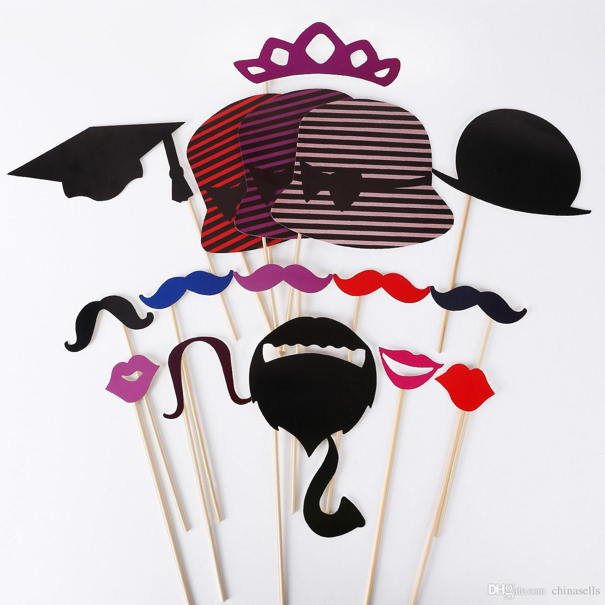 graduation birthday party Photo Props Moustache Hat Small Eyes Paper Beard Wedding Party Supplies Bachelorette Party Photo Booth