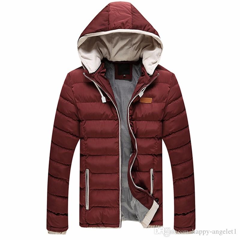 2016 Color Hooded Design Men Parka Size M - 3XL Male Casual Fit Men's Winter Jacket Thick Warm Coat Man Jacket