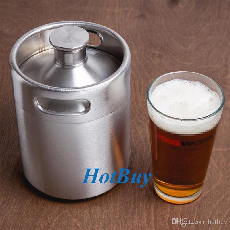 2019 Stainless Steel 2l 64oz Mini Beer Bottle Barrels Beer