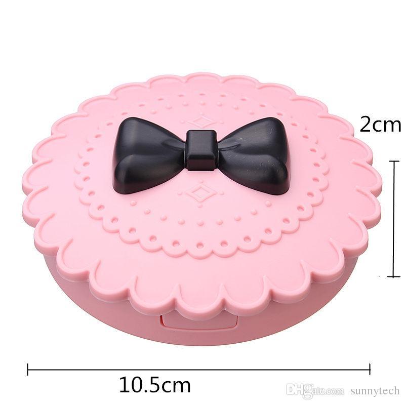 Новый цветок прекрасный ложные ресницы ящик для хранения макияж косметический с зеркалом случае Организатор Bownot красота Comestics инструмент пластик LZ0232