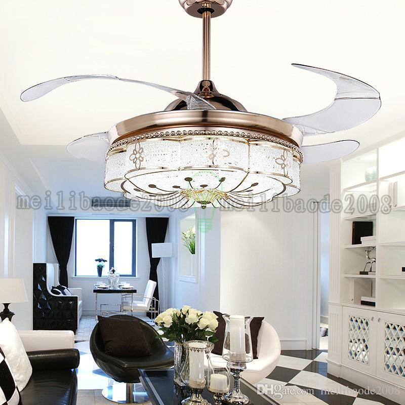 NEW Flushmount Ceiling Fan with light for dining room fancy ceiling lamp with fan AMYY