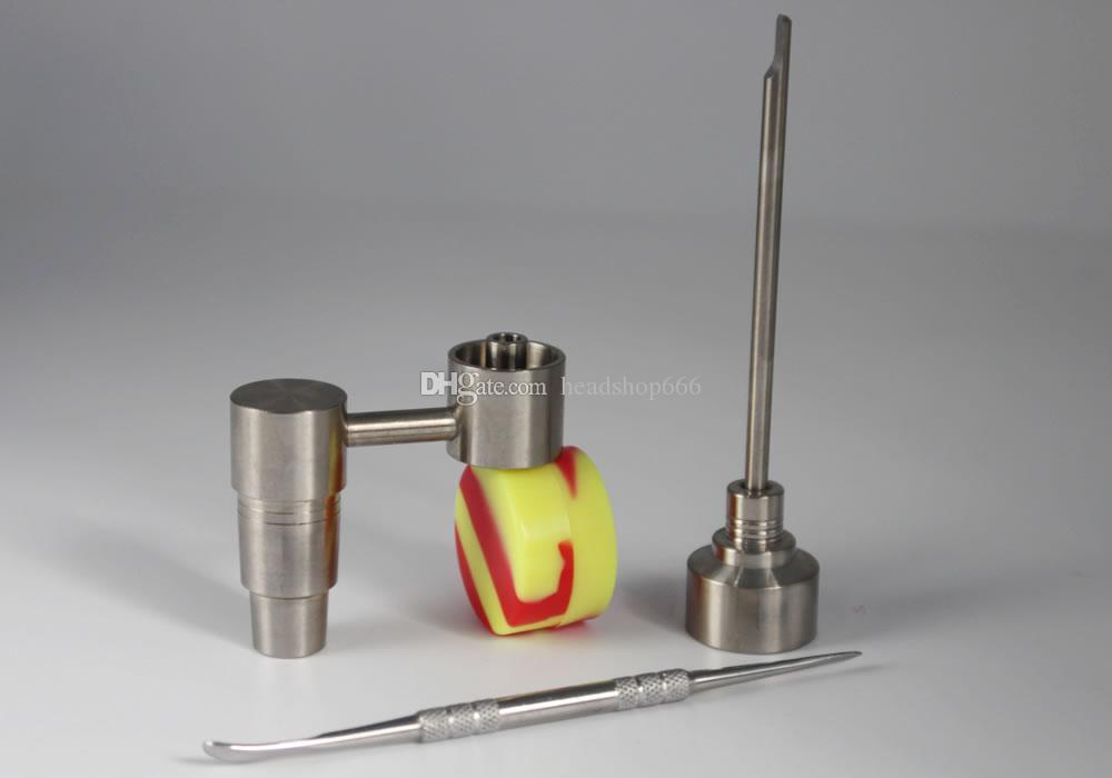 유니버설하고 편리 Domeless 봉 도구 티타늄 못 티타늄 GR2 손톱 14mm와 18mm 유리 가관 유리 봉 유리 물 파이프