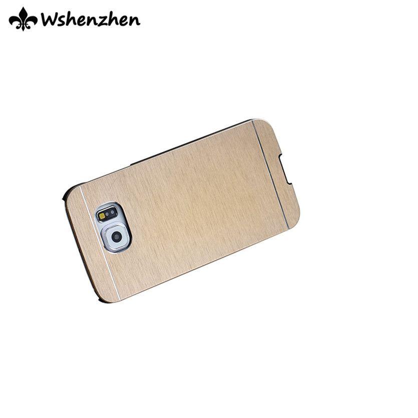 Livraison gratuite 2016 New Aluminium Métal Slim Fit cas ultra mince Motomo Couverture rigide en plastique brossé métal pour iPhone samsung