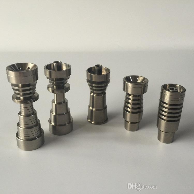 DHL Gratis Hoge Kwaliteit 5 Stijlen van Universele Domeloze GR2 Titanium Nails vs Ceramic Nail Quartz Nail voor Waterleidingen Bongs Op voorraad