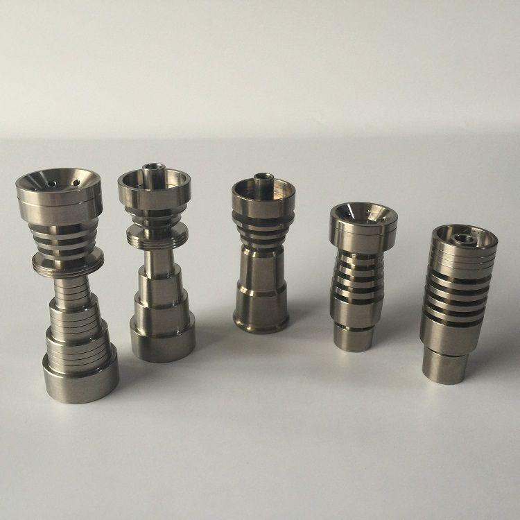 Hoge kwaliteit 5 stijlen van Universele Domeloze GR2 Titanium Nails vs Ceramic Nail Quartz Nail voor waterleidingen Bongs op voorraad