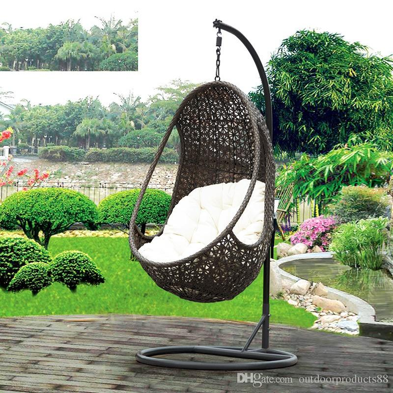 2018 Rattan Basket Rocking ChairGarden RattanWicker Swing Chair