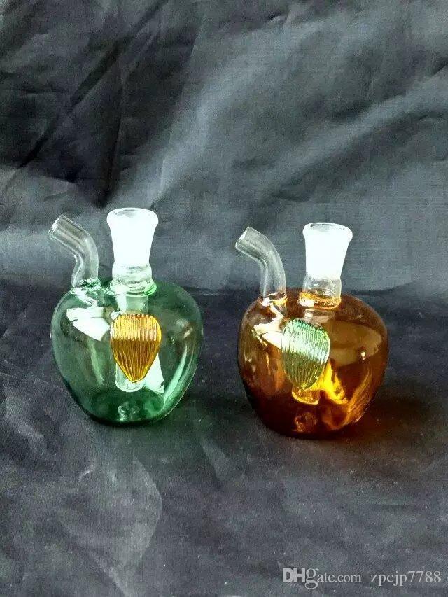 Manzana cachimba, pipas de aceite Bongs mayorista Quemador de vidrio Pipas de agua de tuberías de vidrio plataformas petrolíferas fumadores envío