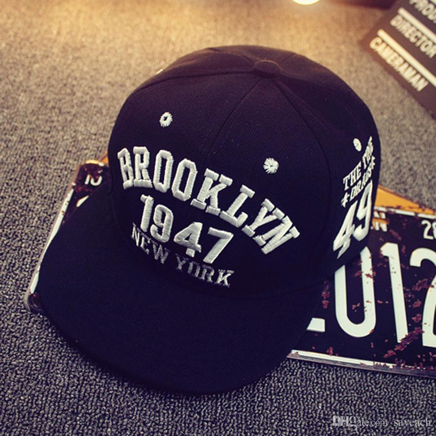 Brooklyn 1947 New York Style Baseball Cap Sport Hat Gorras Planas Snapback Caps New York Hip Hop Hats Snapbacks Casquette Polo Cap