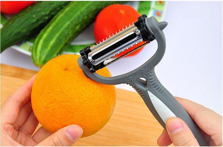 Éplucheur rotatif multifonctionnel 4 en 1 de 360 degrés Carotte Pommes de terre Pommes de terre Orange Légumes Fruit Fruit Slicer Cutter Cuisine Accessoires Outils