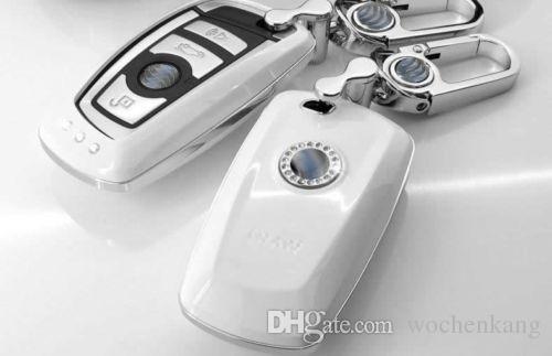 ABS caso da chave do carro de metal de plástico para bmw F10 F20 F30 NOVO 1 2 3 4 5 6 7 série 116I 120I 320I 328I 530I X1 X3 X4 118I