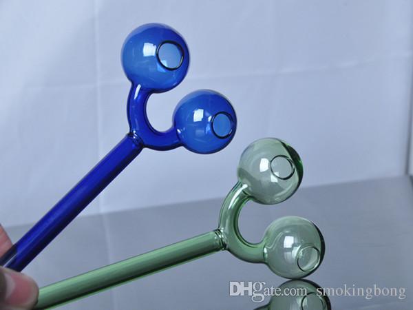 nuovo arrivato tubi in vetro tubi di fumo in vetro bolla doppio vetro colorato bong trasporto libero a buon mercato Accessori di fumo tubi dell'acqua bruciatore olio