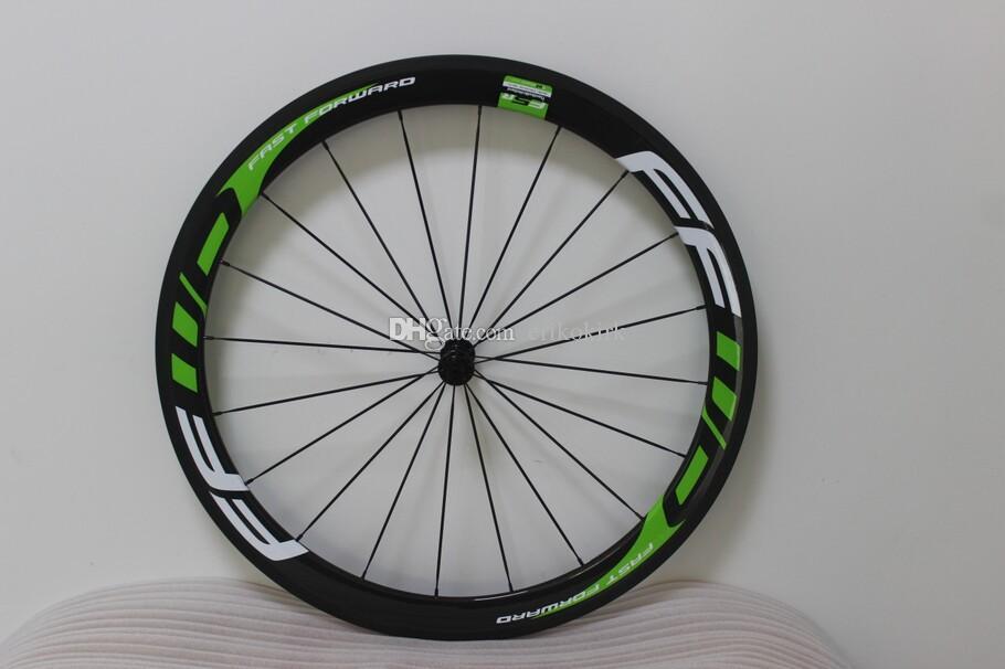 Green FFWD F6R 700C 50mm CLINCHER CARBONE 3K Vélo Vélo Vélo Vélo Vélo Roues de vélo