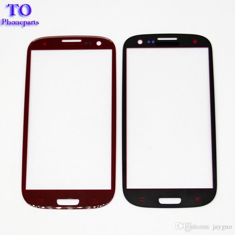 Reemplazo externo delantero de la lente de cristal de la pantalla táctil para el Samsung Galaxy s3 s4 s5 s6 s7 DHL libre