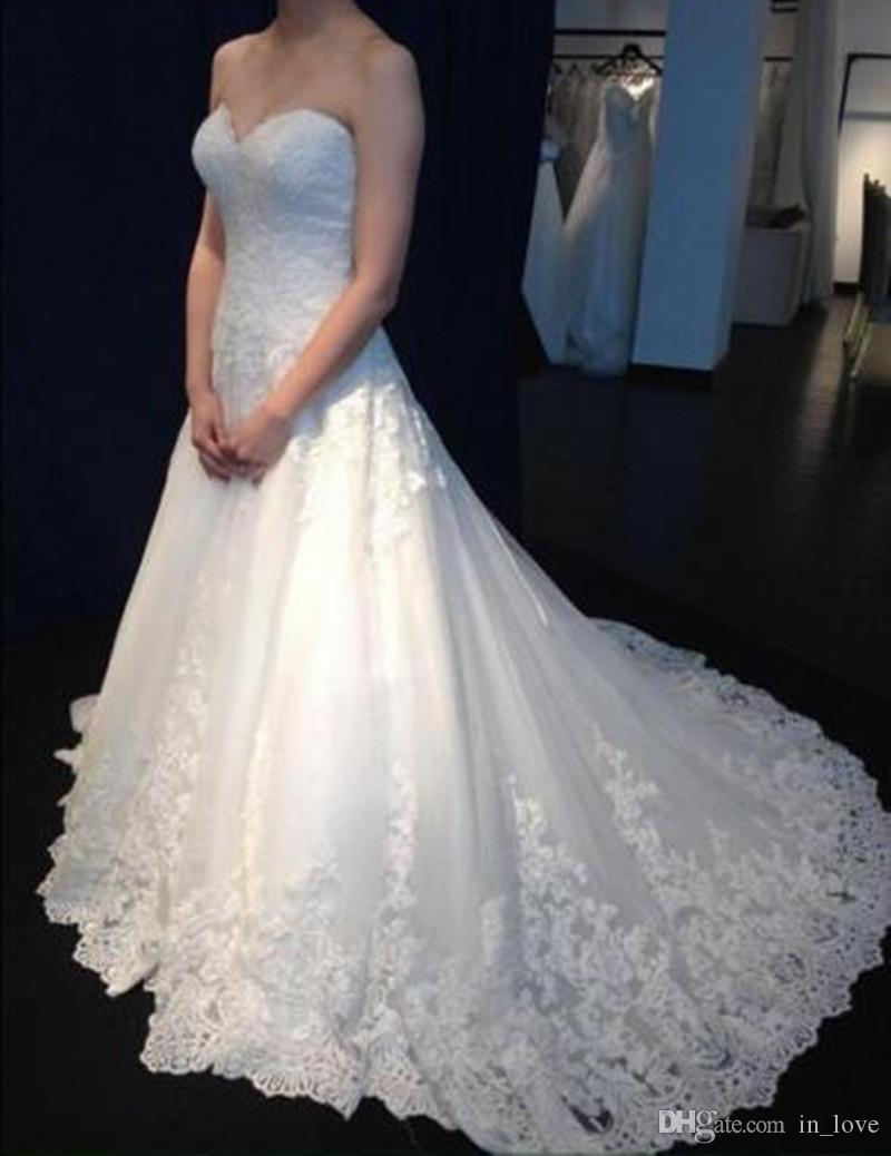 W051 vestido de noiva Кружевные свадебные платья Милая Современные Свадебные платья на заказ Аппликации с плеча US2-26W ++