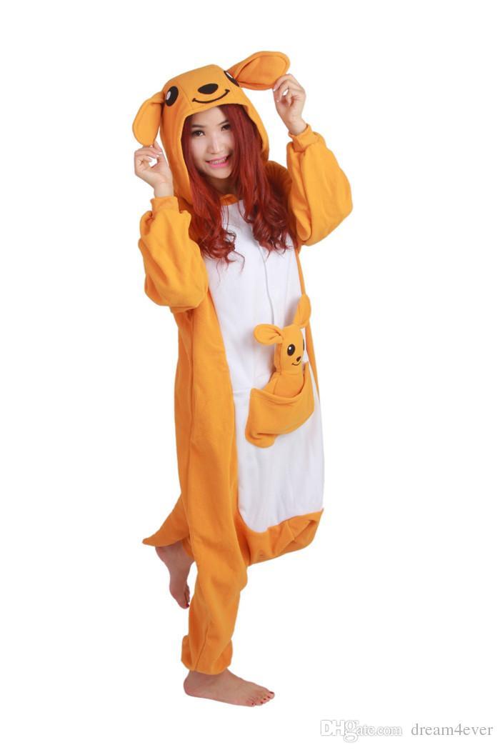 SS Hot sale Kangaroo onesies Pajamas Cartoon costume cosplay Pyjamas Adult Animal Onesies with Kangaroo toy