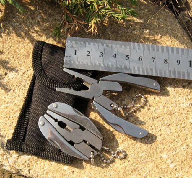 E-11 Taşınabilir Fonksiyonlu Katlama Pense Paslanmaz Çelik Katlanır Bıçak Anahtarlık Tornavida Kamp Survival EDC Araçları Setleri Seyahat