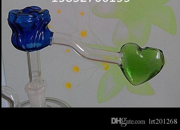 Rose heart pot --glass hookah smoking pipe Glass bongs - oil rigs glass bongs glass hookah smoking pipe - vape- vaporizer