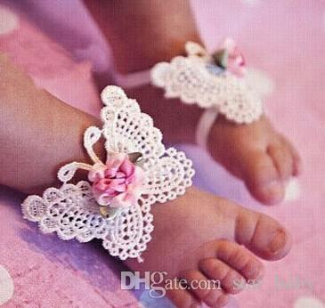Infant Baby Accessories Cute Girls Kids Foot Wear Diy Vivid