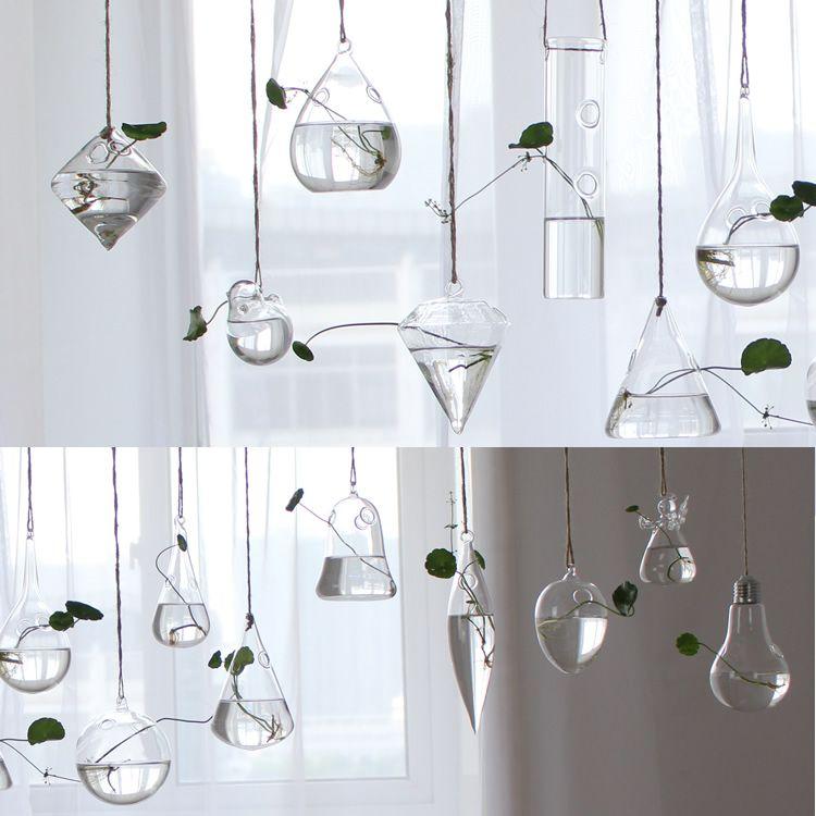 Terrarium Glass Hanging Vase Bottle Plant Flower Decoration Home Garden Bar Style Hanging Flower Vase Wedding Centerpiece Vases
