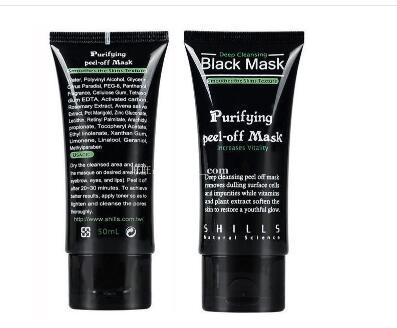 SHILLS Derin Temizlik Siyah Maske 50 ML Siyah Emme Maske Siyah Maske Yüz Bakımı arındırıcı soyulabilir Siyah çamur Anti-Aging Facail yüz maskesi