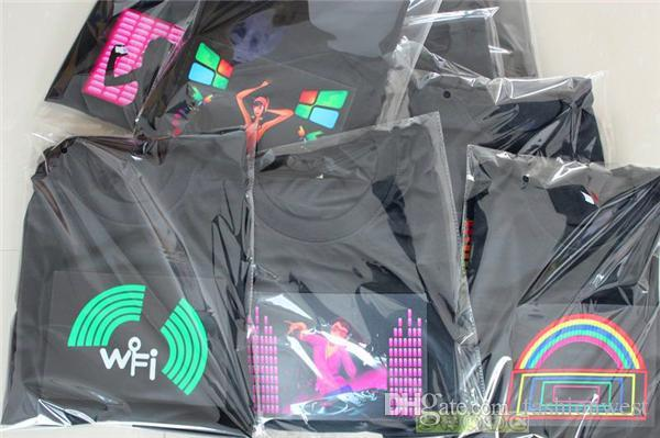 t shirts Led T Shirt Sound Control Iron Man Fashion Creative LED Custom Music Flash Clothing Spectrum Dancer Activated Visualizer