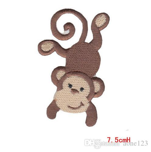 Clothes patch Apparel Sewing Fabric Badge Cartoon Animal Natural Logo, Animal iron on patches for clothing DIY