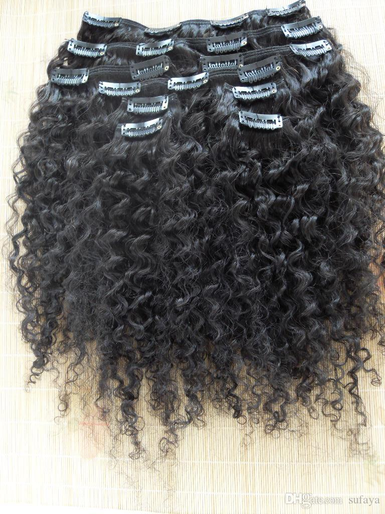 new style brazilian virgin curly hair weft clip in kinky curl weaves unprocessed natural black color human extensions can be dyed