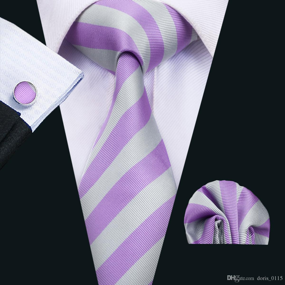 2018 classic silk mens ties purple tie sets strips mens neck ties 2018 classic silk mens ties purple tie sets strips mens neck ties tie hanky cufflinks set jacquard woven meeting business wedding party n 1478 from ccuart Image collections