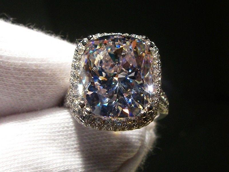 Victoria Wieck Neue Marken-Schmucksachen 14KT Weißgold gefüllt 8CT Big Topaz simulierte Diamant-Hochzeits-Verpflichtungs-Band-Ringe für Frauen Größe 5-11