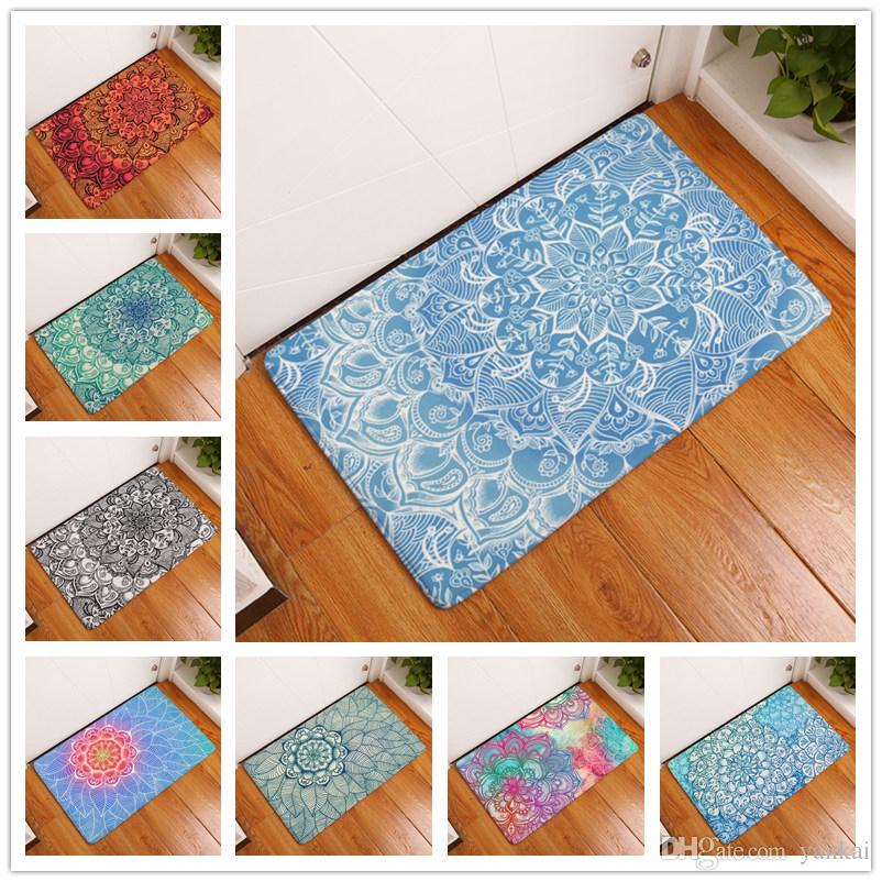 New Home Decor Anti Slip Carpets Color Geometric Abstract Flower