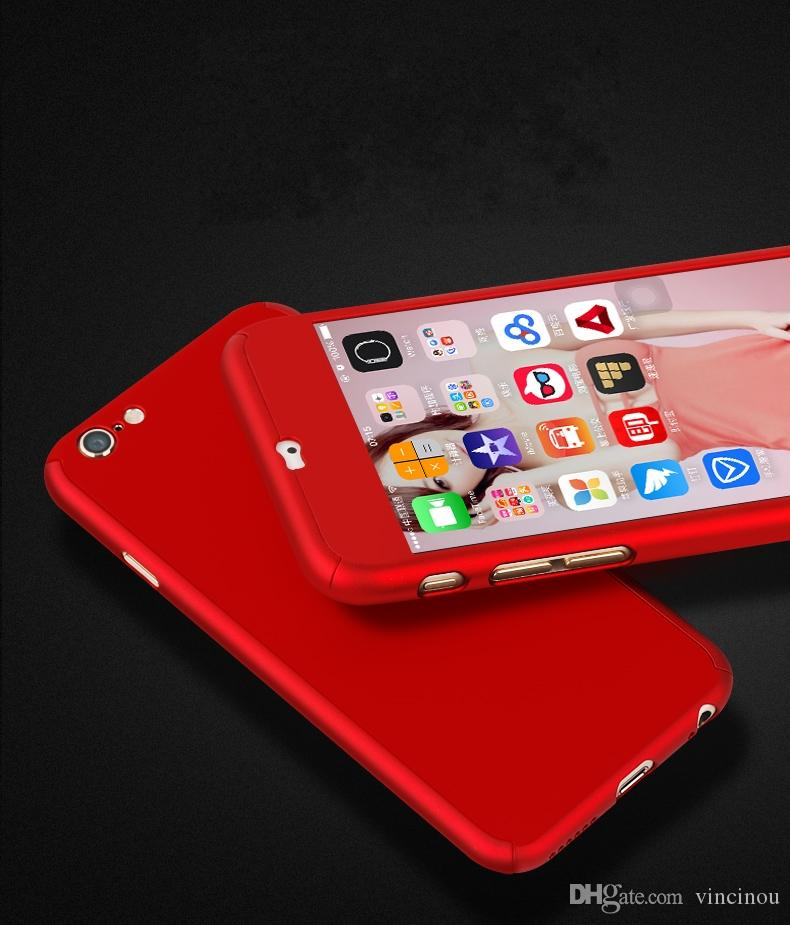 924081bb1a2 ... Ultrafina De Cuerpo Completo De 360 grados Con Protector De Pantalla De  Vidrio Templado Para Teléfono IPhone 6 6S 7 Plus De Apple Accesorios  Telefonia ...