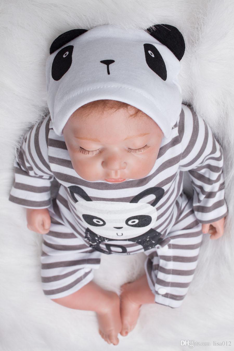 Newest Fashion Realistic Reborn Babies 50cm Newborn Doll Reborn Baby Dolls for Sale Silicone handmade Lifelike Toys
