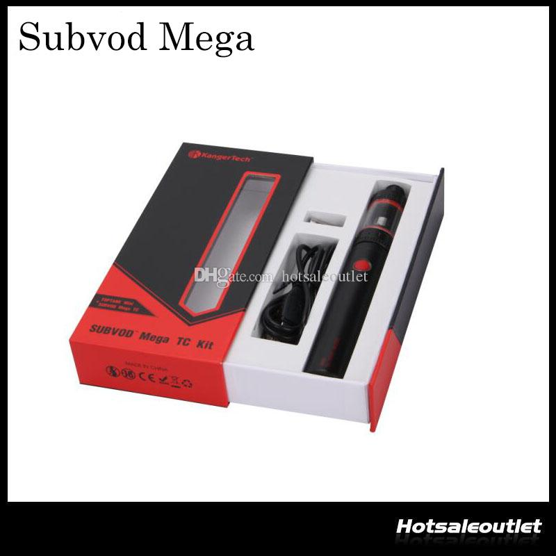 Authentic Kanger Subvod Mega TC Starter Kit With 4ml Toptank Mini Atomizer 2300mah Battery 100% Original DHL Free
