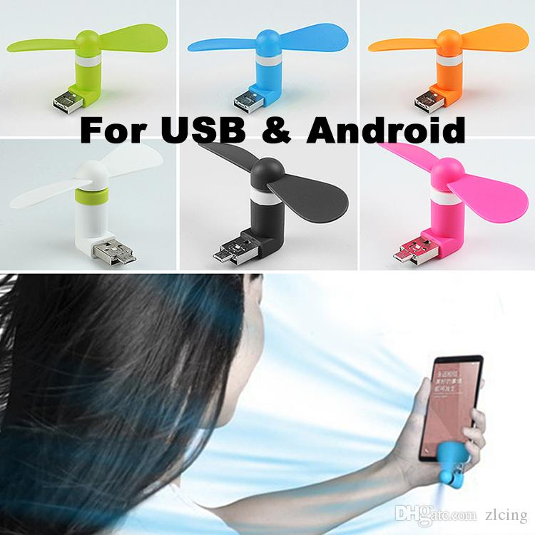 Mini OTG Portable Rotating Fan Cooler Adapter For Android Phones For Power Bank