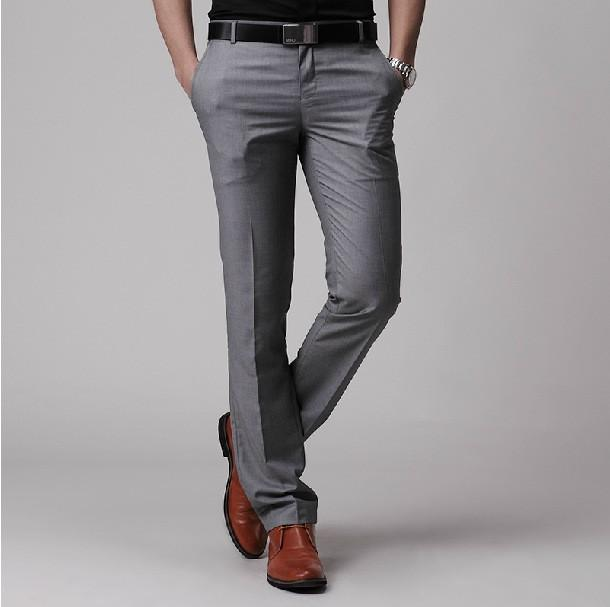 Men's Gray Dress Pants. invalid category id. Men's Gray Dress Pants. Showing 48 of results that match your query. Search Product Result. Product - INC NEW Charcoal Gray Mens Size 36x34 Herringbone Flat-Front Dress Pants. Product - Polo Ralph Lauren NEW Gray Men 33X32 Dress Flat Front Stretch Pants.