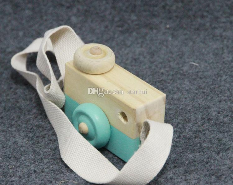 مصغرة كاميرا ألعاب خشبية التصوير الدعائم معلقة على الرقبة مكافحة ساكنة الخشب الطبيعي طفل هدية عيد غرفة الديكور WX-T106