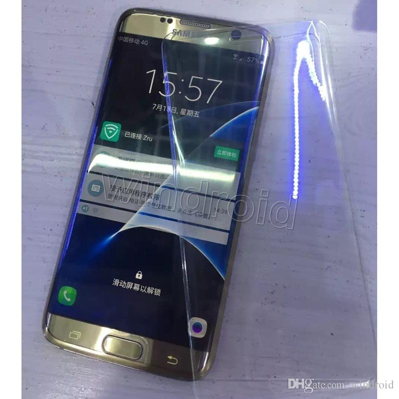 0.3MM Samsung galaxy S7 Edge Note 7 Screen 3D Protector tempered glass Full Cover Curved Glass 9H Hardness Screen Protector With Retail box