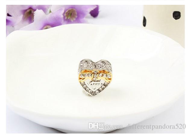 Für Pandora Sterling Silber Armband Bowknot Silber 18KGold PL Just Married Perlen Charms Für Europäische Schlange Charme Kette Mode DIY Schmuck