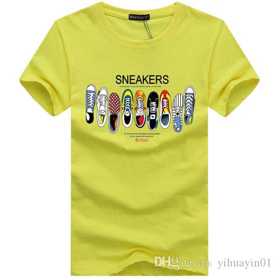 Maglietta degli uomini di estate 2017 Nuova maglietta a strisce di moda Abbigliamento da uomo Trend Slim Fit manica corta Casual Mens Top Tee Shirt 5XL