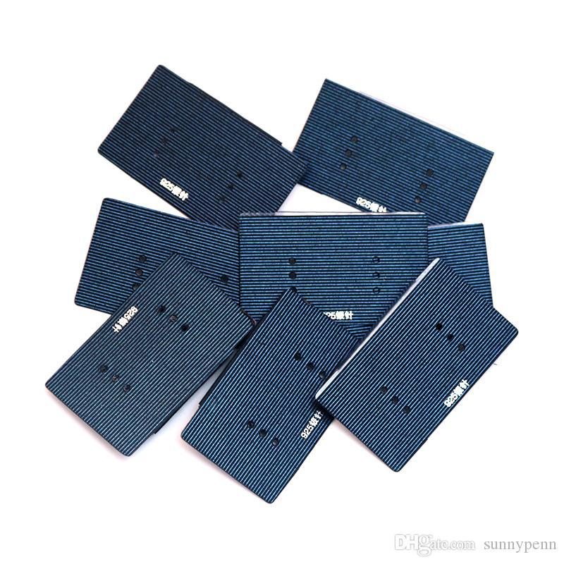 La carta di gioielli di carta del bastone del PVC di plastica blu scuro all'ingrosso / etichetta l'orecchino d'attaccatura etichetta adatta l'esposizione dell'esposizione dell'orecchino della vite prigioniera di modo