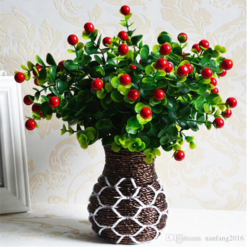 Charmant Online Cheap Green Artificial Plants Fake Floral Plastic Silk Flowers  Eucalyptus Plant Flowers Office Hotel Table Decor Artificial Grass By  Nanfang2016 ...