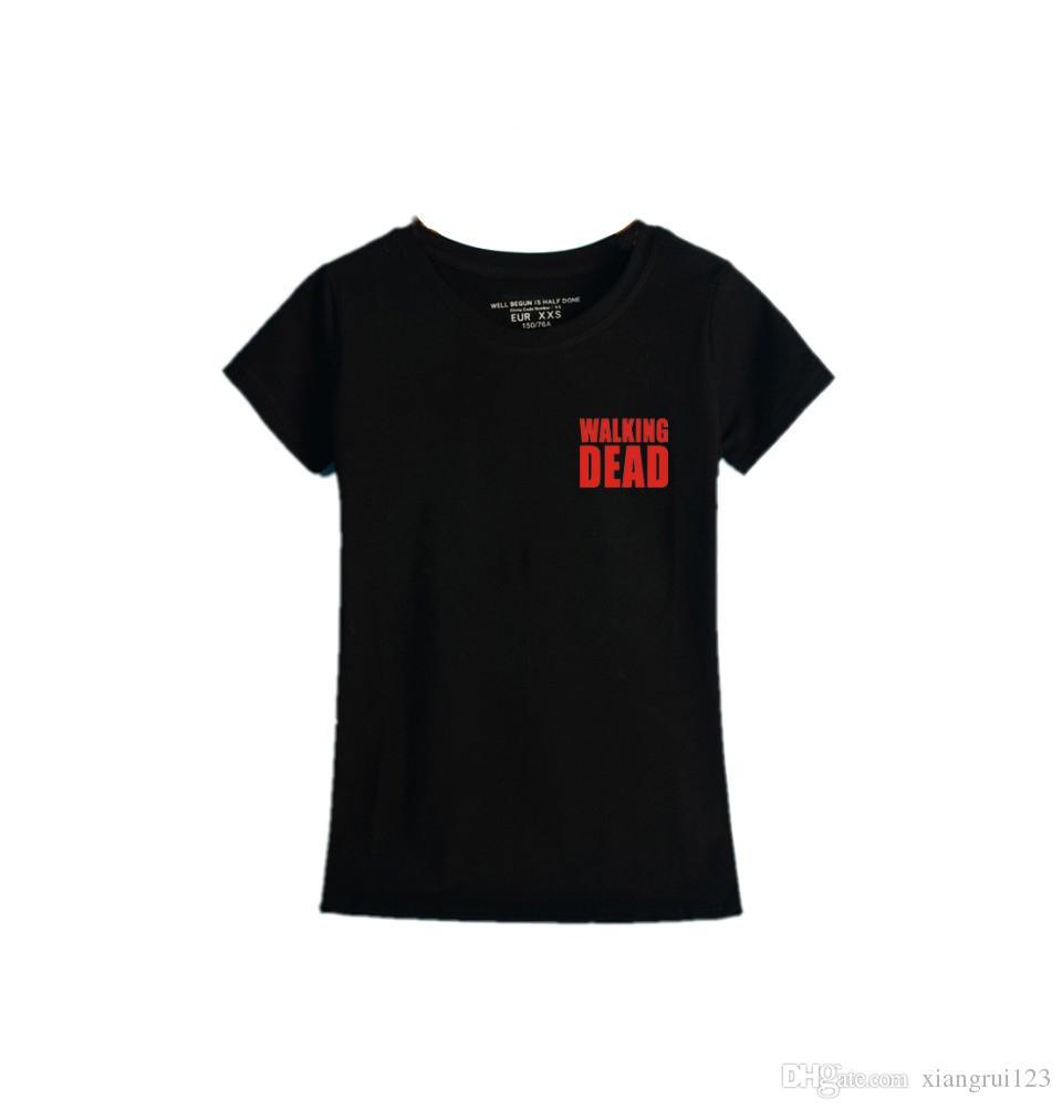 Compre Camiseta Para Mujer De Manga Corta Con Estampado De Letras De  Algodón De Moda A  6.04 Del Xiangrui123  6f53e1863e8eb