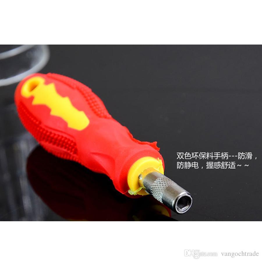 A + gli appassionati di gadget strumenti di riparazione del cellulare 31 in 1 precisione Cacciavite magnetico con impugnatura in gomma antiscivolo