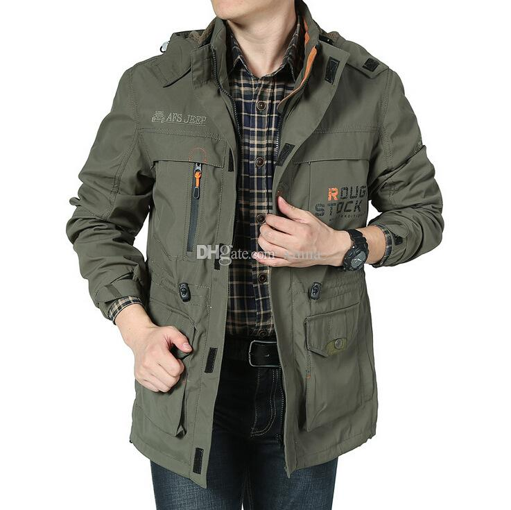 Brand Afs Jeep Men Coat Military Jacket Waterproof Windbreaker ...
